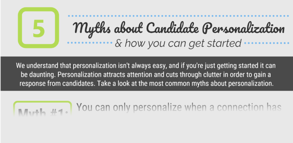 5 Myths About Candidate Personalization - Infographic