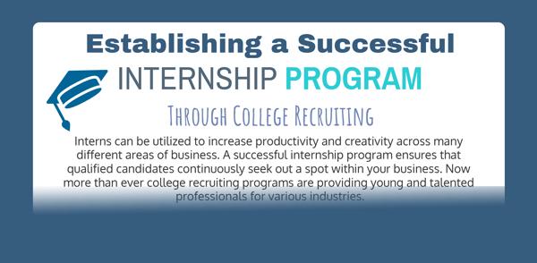 Establishing an Internship Program - Infographic